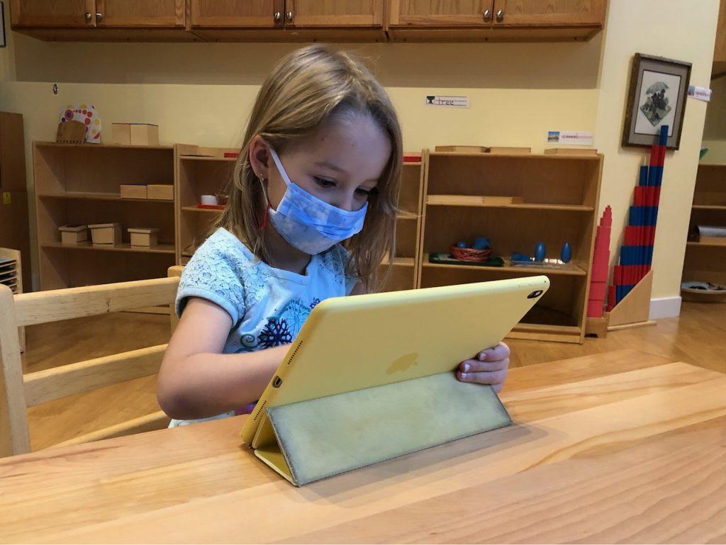CPS remote learning at Lincoln Square Montessori School